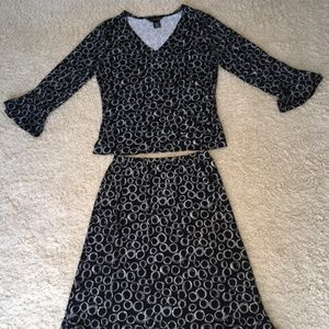 Blouse and Skirt dress, Size M